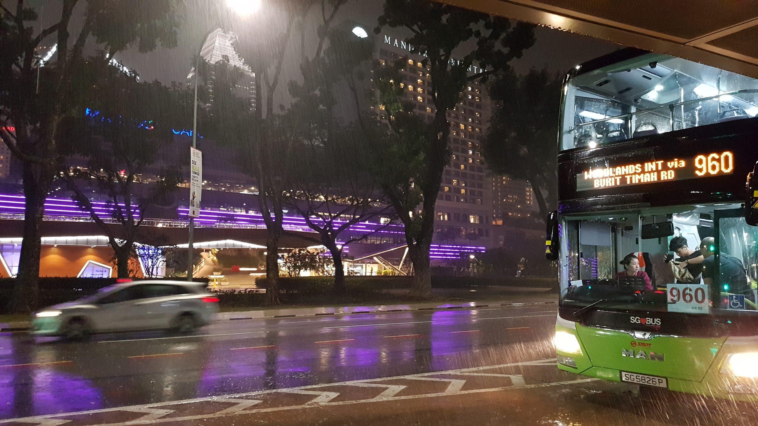 singapore in rain